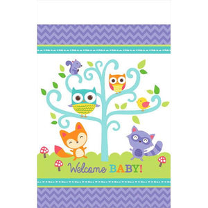 Woodland Welcome Plastic Tablecover