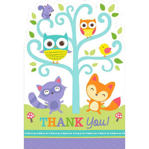 Woodland Welcome Postcard Thank You Cards (16 in a package)