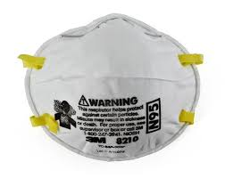 3M 8210 N95 Particulate Respirator Face Mask Box of 20