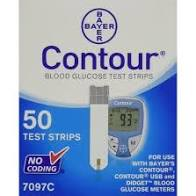 Blood Glucose Test Strip Contour 50 Test Strips per Box Bayer Healthcare Model: 7097C