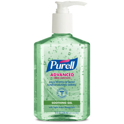 PURELL® Advanced Hand Sanitizer Soothing Gel 8 fl oz Table Top Pump Bottle  Case Pack 12