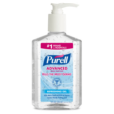 Purell Hand Sanitizer, with Moisturizers, 8 oz, 12/cs  Purell Model: 9652-12