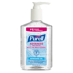 Purell Hand Sanitizer, with Moisturizers, 8 oz,
