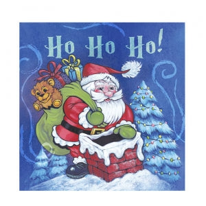 Christmas Santa Beverage Napkin 75 Count (Qty: 2700)