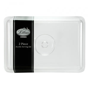 Acrylicware - Rectangular Tray w/Lid (Case Qty: 6)