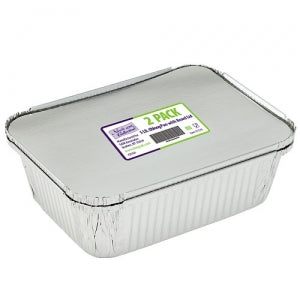 Aluminum 5Lb Oblong Pan with Board Lid 2 Count (Case Qty: 72)