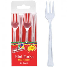 Mini Clear Plastic Forks (Case Qty: 1152)
