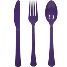Purple Heavyweight Cutlery Combo 24 Count (Case Qty: 576)