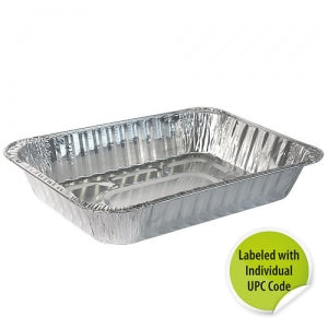 Aluminum Large Roaster - Individually Labeled with UPC (Case Qty: 100)