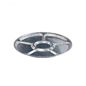 "Aluminum 12"" Lazy Susan/Compartment Platter (Case Qty: 25)"