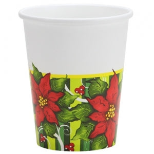 Poinsettia Wreath - 9 oz. Cups - 12 Count (Case Qty: 432)