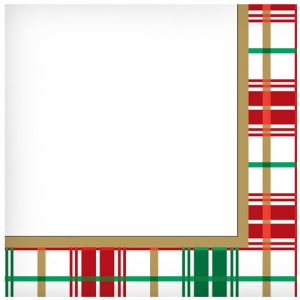 Christmas Plaid Lunch Napkin 40 Count (Case Qty: 1440)