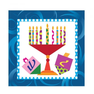 Happy Chanukah Beverage Napkin 75 Count (Qty: 2700)