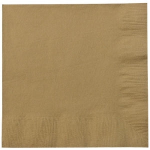 Luncheon Napkin, Gold, 20 Count (Case Qty: 720)