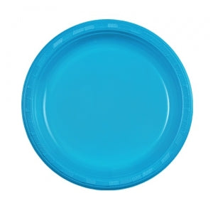 "9"" Plastic Plate - Island Blue - 50 Count (Case Qty: 600)"