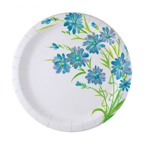 "Blue Everyday Floral 7"" Paper Plate (Case Qty: 576)"