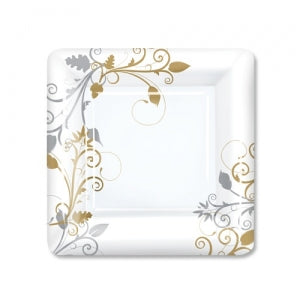 "Bella Vite Shimmer - 7"" Square Plates, 12 Count (Case Qty: 288)"