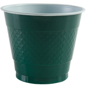 9 oz. Plastic Co-Ex Cup - Hunter Green - 18 Count (Case Qty: 648)