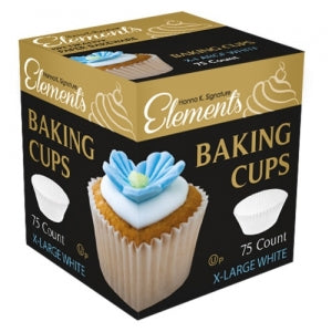 "Elements - Paper Bakeware - 2"" X-Large Baking Cups - White (Case Qty: 1800)"