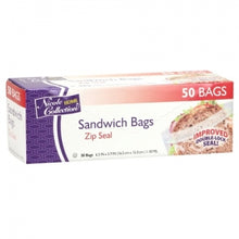 Sandwich - Zip Seal Bags - 50 Count (Case Qty: 2400)