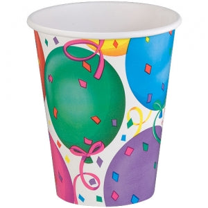 9oz Healy's Balloons Paper Hot/Cold Cup 12 Count (Case Qty: 864)