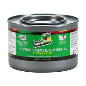 Chafing - Ethanol Green Gel Fuel - 2 Hour (Case Qty: 72)