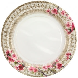 "Burlap Blossom - 10"" Plate (Case Qty: 648)"