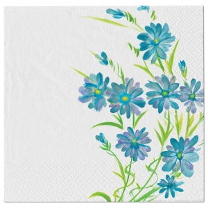 Blue Everyday Floral Luncheon Napkin (Case Qty: 1440)