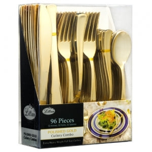 Cutlery - Polished Gold - Combo Cutlery - Acetate Box (Case Qty: 576)