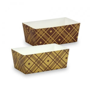 "Elements - 4.5"" x 2.5"" Rectangle Baking Pans - Plaid - 6 Count (Case Qty: 72)"