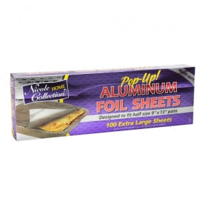 "Aluminum Foil - Pop Up - 16"" x 14"" Sheets (Case Qty: 1200)"