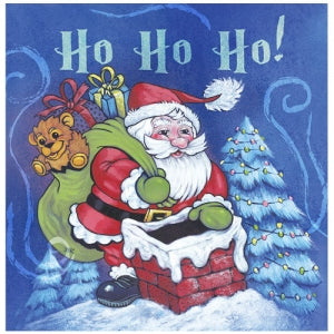Christmas Santa Lunch Napkin 40 Count (Case Qty: 1440)
