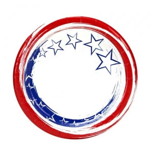 "Stars 'N Stripes 7"" Paper Plate 48 Count (Case Qty: 576)"
