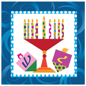 Happy Chanukah Lunch Napkin 40 Count (Case Qty: 1440)