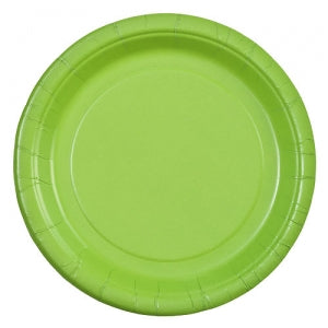 "7"" Lime Green Round Paper Plate 24 Count (Case Qty: 864)"