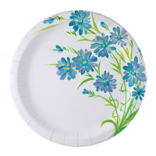 "Blue Everyday Floral 9"" Paper Plate (Case Qty: 576)"