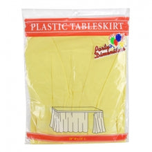 "29"" X 14'' Yellow Plastic Tableskirt 36 Count (Case Qty: 36)"