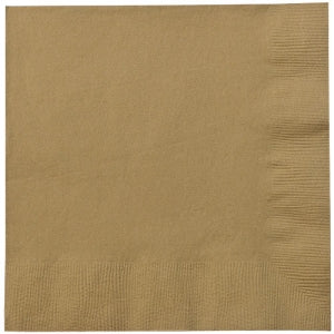 Gold Dinner Napkins 24 Count (Case Qty: 1152)