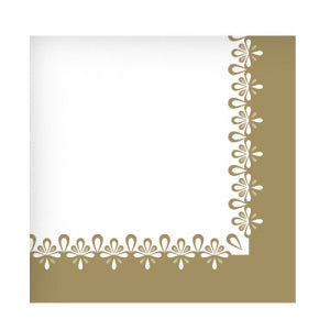 Precious Gold Beverage Napkin 75 Count (Qty: 2700)