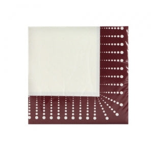 Burgundy Décor - Beverage Napkin (Qty: 2700)
