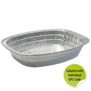Aluminum Oval Roaster Extra Large - Individually Labeled with UPC (Case Qty: 100)