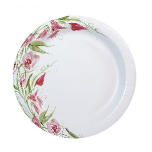 "Pink Everyday Floral 7"" Paper Plate (Case Qty: 576)"