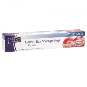 Gallon - Zip Seal Storage Bags - 12 Count (Case Qty: 576)