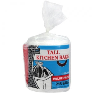 Trash Bags - 13 Gallon - Twist Tie - Tall Kitchen Bag Roll (Case Qty: 1290)