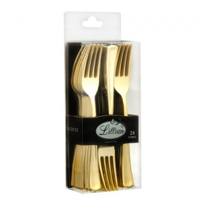 Cutlery - Polished Gold - Fork - Acetate Box (Case Qty: 576)