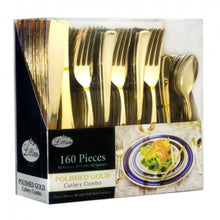 Cutlery - Polished Gold - Combo Cutlery - Acetate Box (Case Qty: 960)