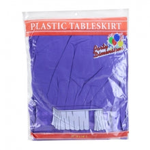 "29"" X 14'' Purple Plastic Tableskirt 36 Count (Case Qty: 36)"