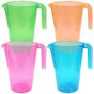 50 oz. Neon Plastic Pitchers 4 Assorted Colors (Case Qty: 36)