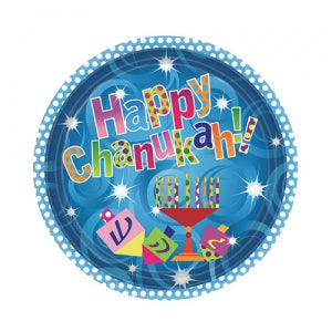 "7"" Happy Chanukah Paper Plate 36 Count (Case Qty: 1296)"