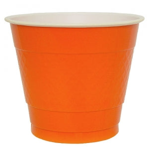 9 oz. Plastic Co-Ex Cup - Orange - 18 Count (Case Qty: 648)